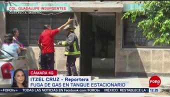 FOTO:Controlan fuga de gas en colonia Guadalupe Insurgentes, 9 marzo 2019