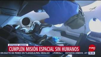 FOTO: Cumplen misión espacial sin humanos en Estados Unidos, 3 marzo 2019