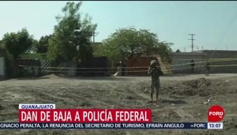 FOTO: Dan de baja a policía federal en Guanajuato ligado a 'El Marro', 10 marzo 2019