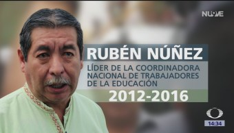 FOTO: Dan último adiós a Rubén Núñez, líder histórico de la CNTE, 25 marzo 2019