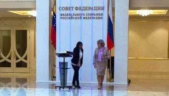 Foto: La presidente del Senado ruso, Valentina Matviyenko (d), recibió a la vicepresidente venezolana, Delcy Rodríguez (i) en la sede del Consejo de la Federación de Rusia, 3 marzo 2019