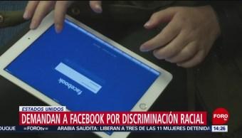 Foto: Demandan a Facebook por discriminación racial