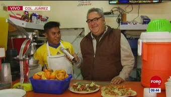 Desayunos en la colonia Juárez