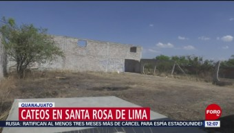 Descubren refugio secreto durante cateos en Santa Rosa de Lima