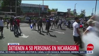 FOTO: Detienen a 50 personas durante manifestación en Nicaragua, 16 marzo 2019