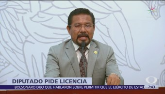 Diputado de Morena pide licencia para enfrentar proceso por homicidio