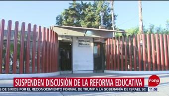 Diputados suspenden discusión de la reforma educativa por bloqueo de CNTE