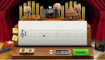 Foto: Doodle de Google sobre Johann Sebastian Bach, 21 de marzo de 2019