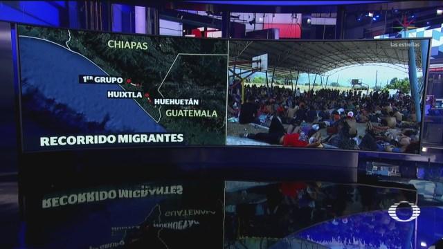Foto: Dos caravanas migrantes avanzan a EEUU