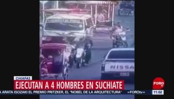 Ejecutan a 4 hombres en Suchiate, Chiapas; investigan los hechos