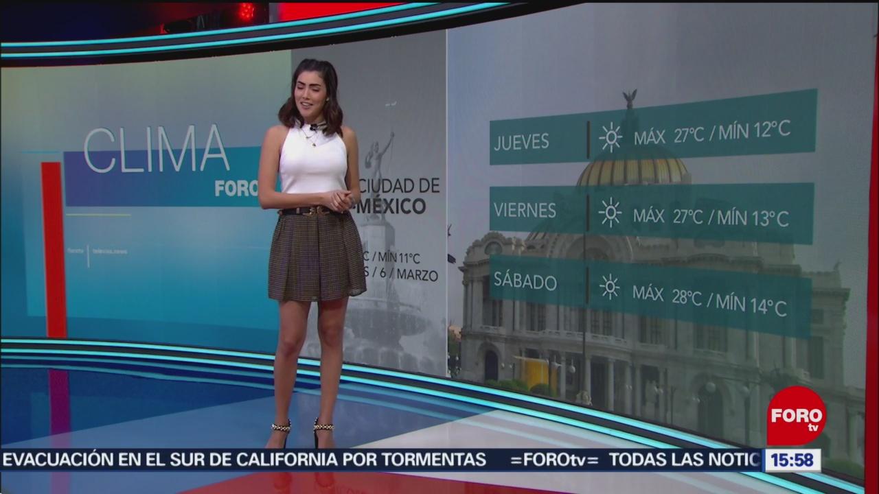 Foto: El Clima 'A las Tres' con Daniela Álvarez del 6 de marzo de 2019
