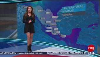 Foto: El clima con Mayte Carranco del 13 de mayo de 2019