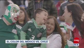 Foto: El color del partido México vs Chile