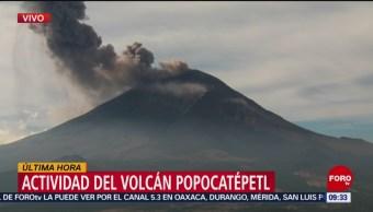 FOTO: El volcán Popocatépetl arroja una columna de ceniza, 16 marzo 2019