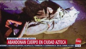 Foto: Encuentran cuerpo encobijado en Ciudad Azteca, Estado de México