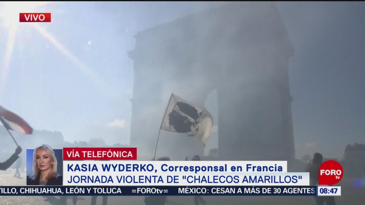 FOTO: Enfrentamientos en Francia por chalecos amarillo, 16 marzo 2019