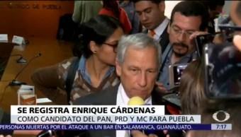 Enrique Cárdenas, candidato de PAN, PRD y MC en Puebla