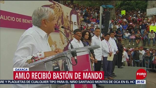 Amlo Bastón De Mando Oaxaca 21 de Marzo 2019