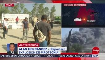 Foto: Equipos de emergencia atienden explosión de pirotecnia en Edomex