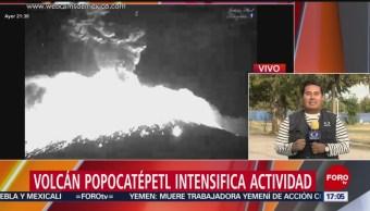 FOTO: Erupción del Popo no frena actividades cotidianas de la población