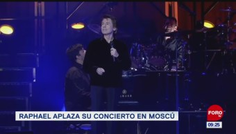 Foto: Raphael aplaza concierto en Moscú