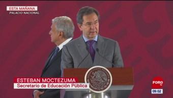 Esteban Moctezuma da a conocer puntos de nueva reforma educativa