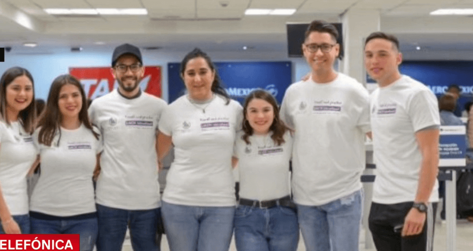 Foto: Estudiantes mexicanso detenidos en Israel, marzo de 2019