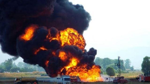 Foto: La explosión causó un derrame masivo de petróleo en Nembe, en el estado de Bayelsa, 2 marzo 2019