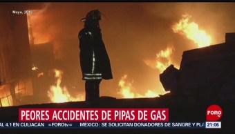 Foto: Peores Explosiones Pipas Gas México 21 de Marzo 2019