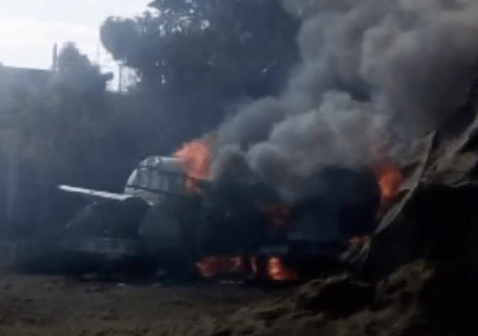 FOTO Pipa de gas explota en Milpa Alta, CDMX; hay heridos graves (FOROtv 21 marzo 2019 cdmx)