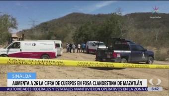 FOTO: Extraen 26 cuerpos de fosa clandestina en Sinaloa, 18 marzo 2019