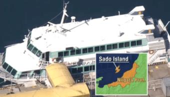 FOTO Ferry choca con ballena en Japón, hay 80 heridos NHK 9 marzo 2019 japon
