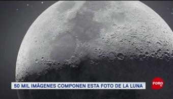 FOTO: Foto de la luna con 50 mil imágenes, 10 marzo 2019