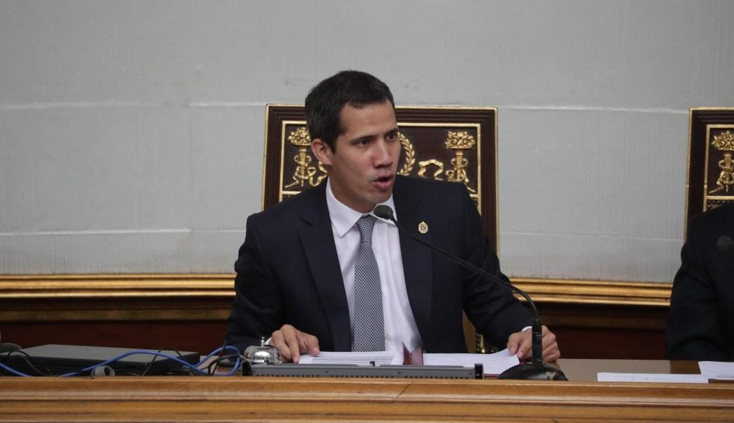 Foto: El jefe del Parlamento, Juan Guaidó, participa durante una sesión de la Asamblea Nacional en Caracas, Venezuela. El 26 de marzo de 2019