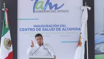 Foto: Francisco Cabeza de Vaca, gobernador de Tamaulipas, 12 de marzo 2019. Twitter @fgcabezadevaca