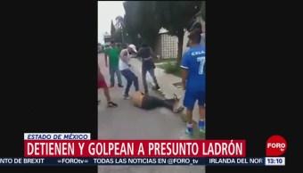 FOTO: Golpean a asaltante en Tecámac, Edomex, 18 marzo 2019