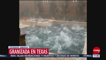 Foto: Granizada azota norte de Texas, en EU