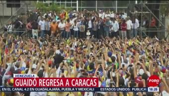 Foto: Guaidó regresa a Venezuela