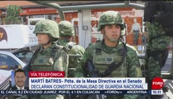 Foto: Guardia Nacional tendrá mando mixto, señala Martí Batres