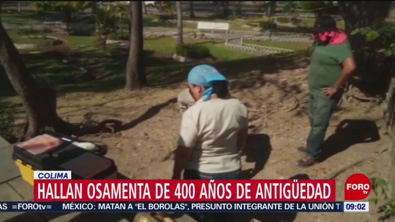 Hallan osamenta de 400 años de antigüedad en Colima