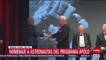 FOTO: Homenaje a astronautas del programa Apolo en Nueva York, 17 marzo 2019