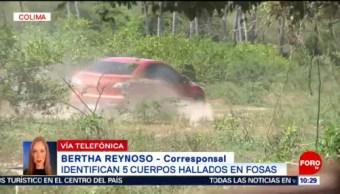 FOTO:Identifican 5 de los 69 cuerpos localizados en fosas clandestinas en Colima, 23 Marzo 2019