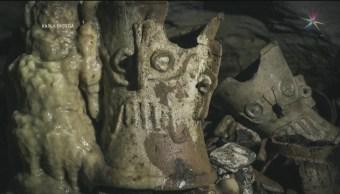Foto: INAH Descubre Cueva Santuario Balamkú 4 de Marzo 2019