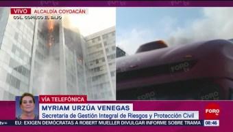 FOTO:Incendio afecta cinco pisos del edificio de Conagua: Protección Civil CDMX, 23 Marzo 2019