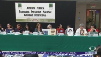 Inician audiencias públicas sobre feminicidios en San Lázaro