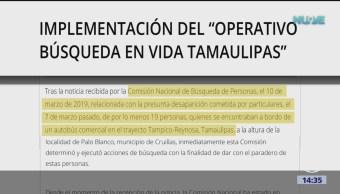 Foto: Inician operativo de búsqueda de 19 desparecidos Tamaulipas