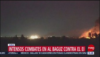 FOTO: Intensos combates en Al Baguz contra el EI en Siria, 10 marzo 2019