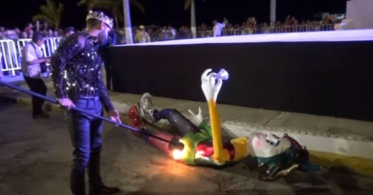 Foto: El Carnaval de Campeche 2019 termina con la quema de Juan Carnaval, quien representa la alegría y diversión, el 24 de marzo de 2019 (Noticieros Televisa)