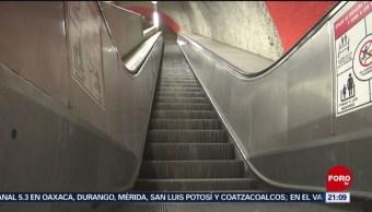 Foto: Escaleras Electricas Metro Abandono CDMX 22 de Marzo 2019