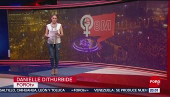 FOTO: Las Noticias de las 20:00 horas, con Danielle Dithurbide: Programa del 8 de marzo de 2019, 8 marzo 2019